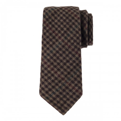 Corbata Lana Tweed Check