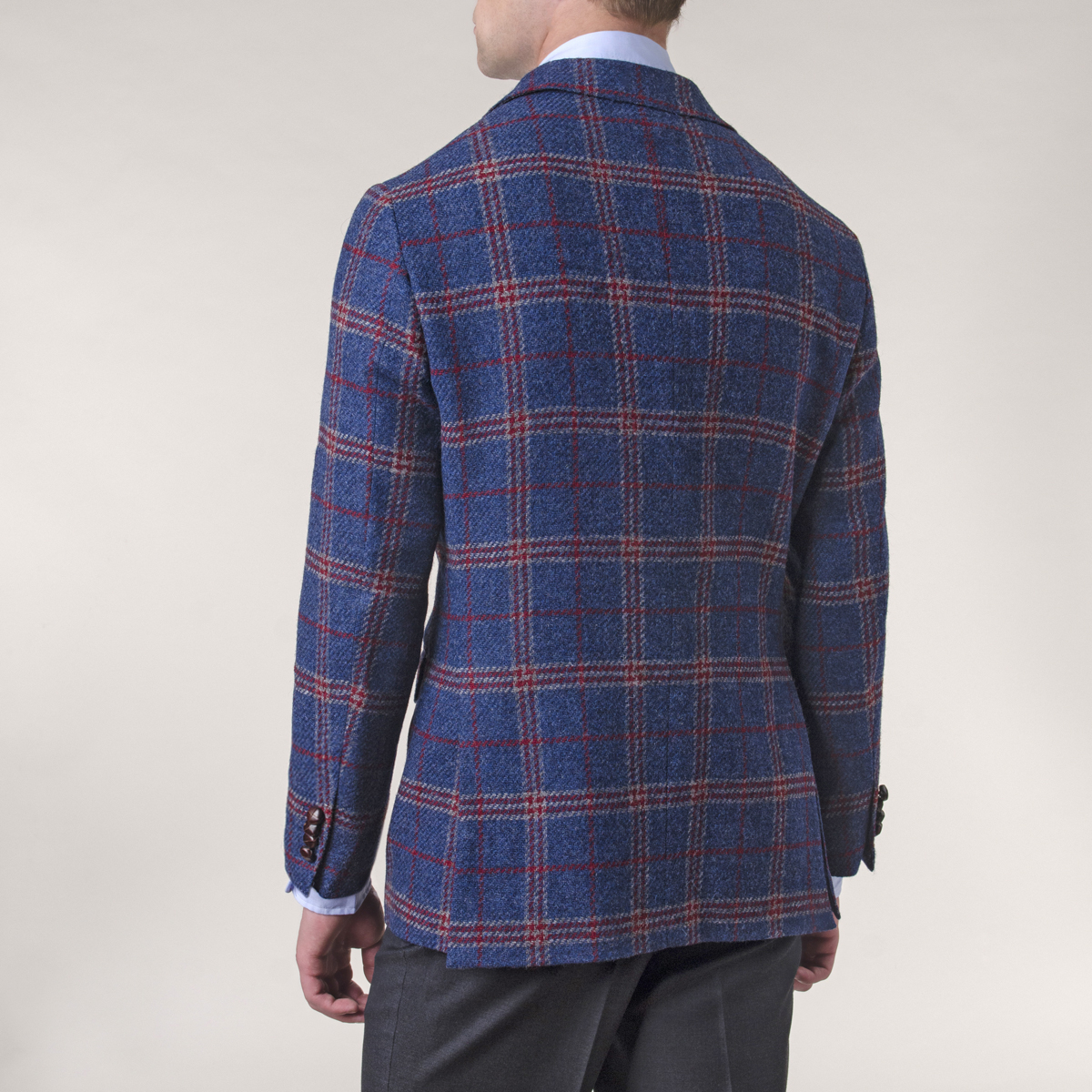 Vestón Newton Lana Campore Tweed Preppy Check