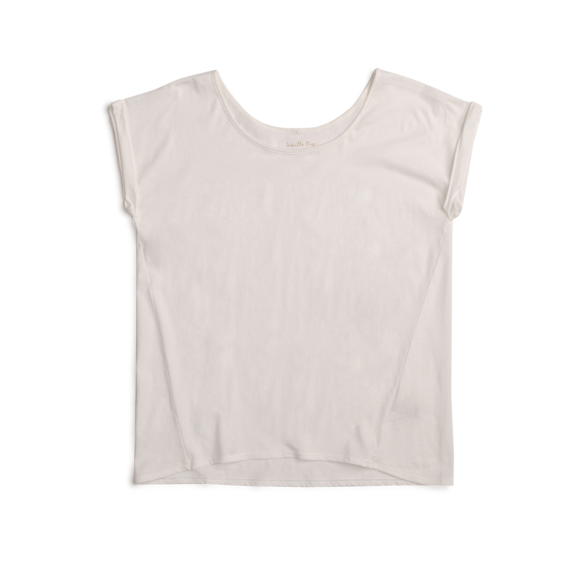 POLERA CUELLO RED M/C ANCHA BLANCO PIMA