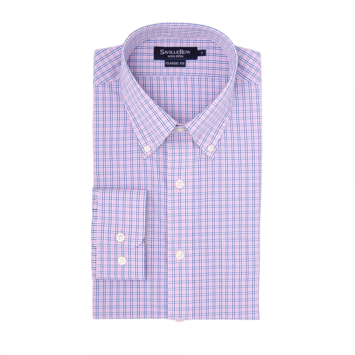 Camisa Vestir Button Down Non Iron Calce Classic Comfort Stretch A Cuadros