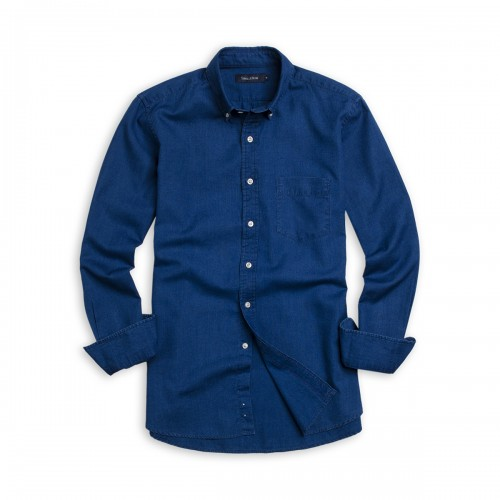 Camisa Button Down Weekend Indigo Sport