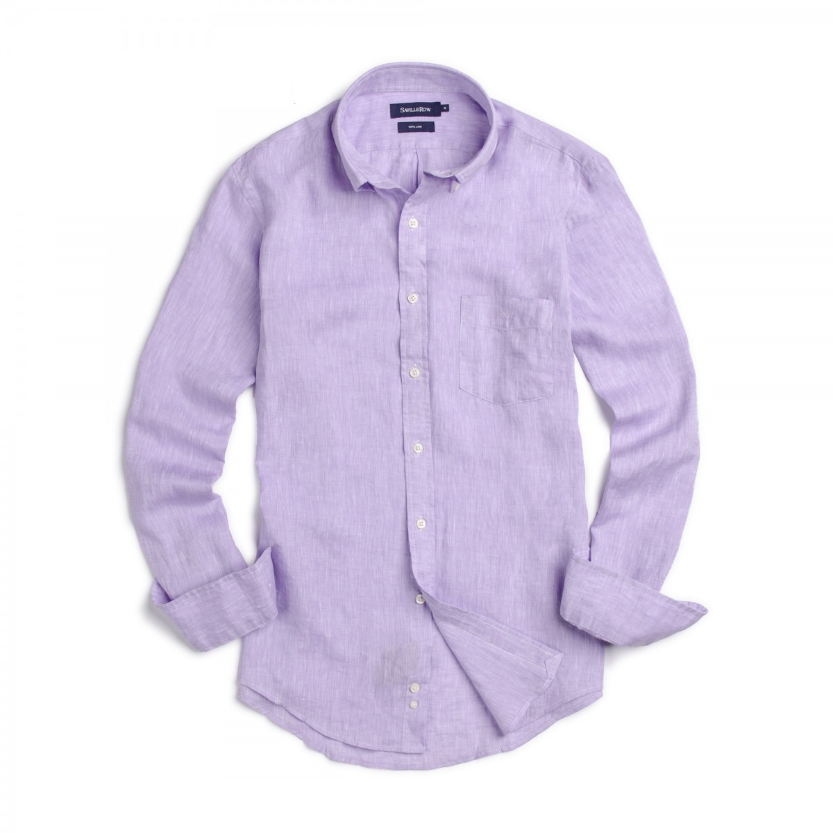 Camisa Button Down Manga Larga Lino Sport