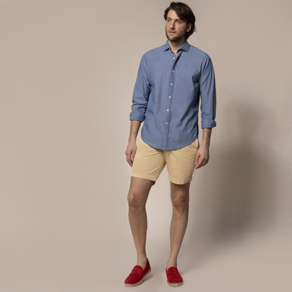 Camisa Sport Crosby Weekend Summer Chambray Indigo