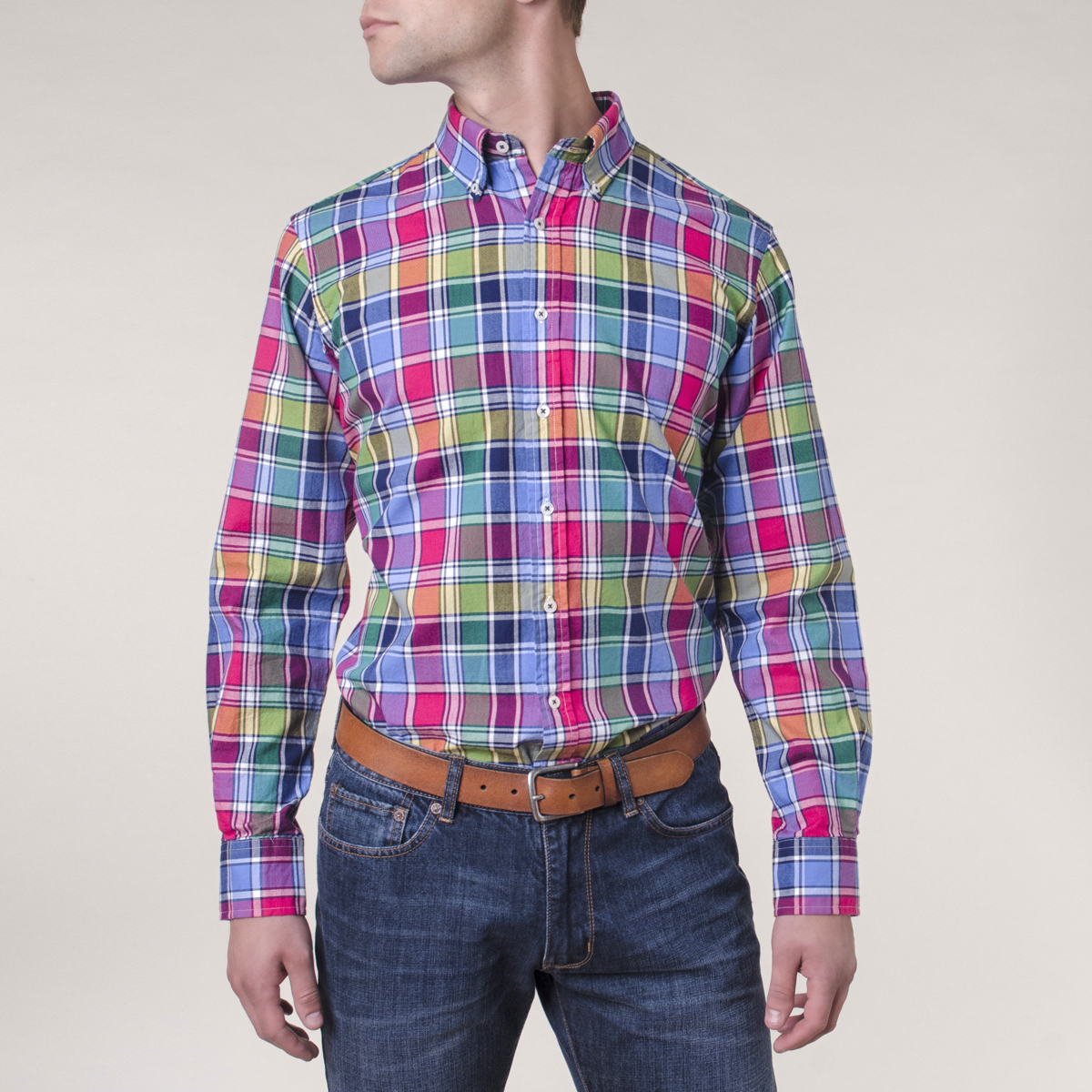 Camisa Sport Preppy Colorblock