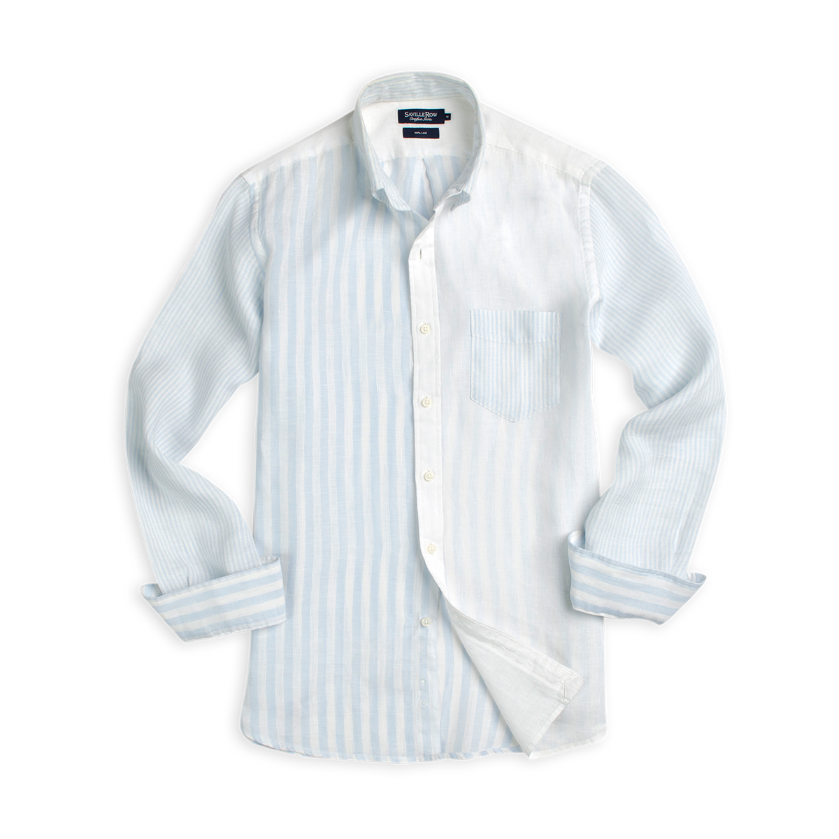 Camisa Fantasia Button Down Manga Larga Lino