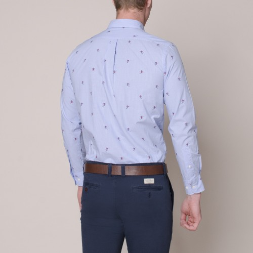Camisa Sport Button Down Estampada