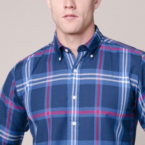 Camisa Button Down a Cuadros Sport