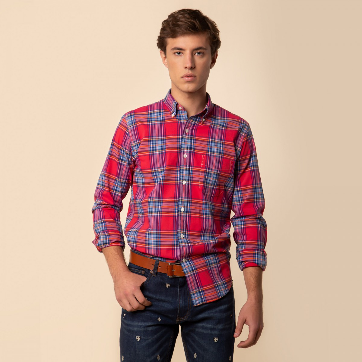 Camisa Sport Button Down Weekend a Cuadros