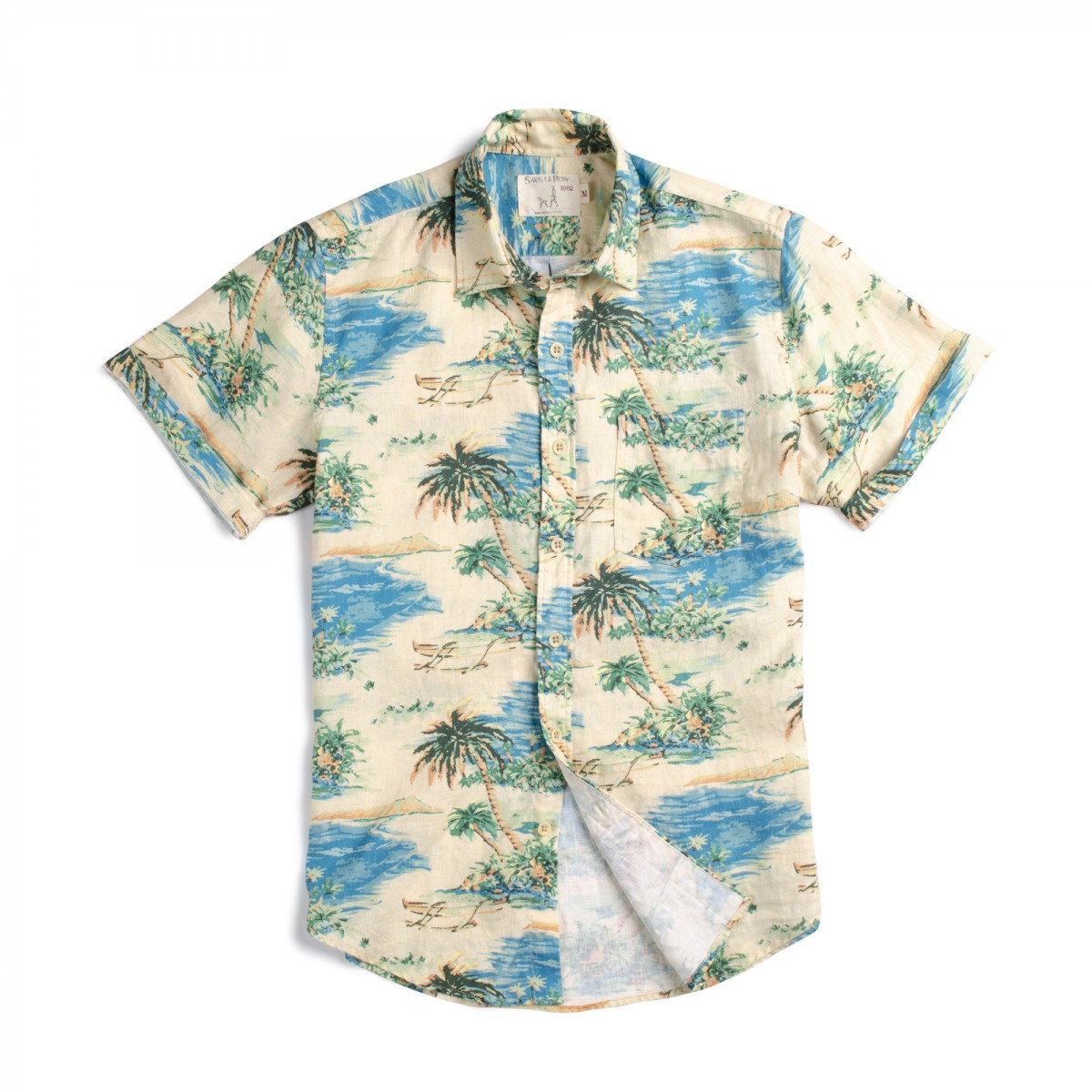 Camisa Houston Estampado Hawaii Vintage