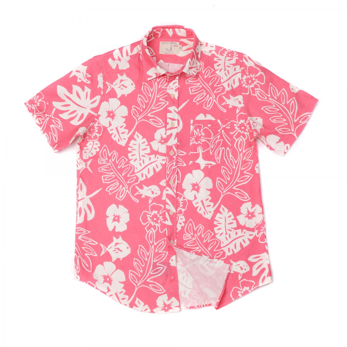 Camisa Sport Houston Weekend Lino Estampado Ibis Vintage
