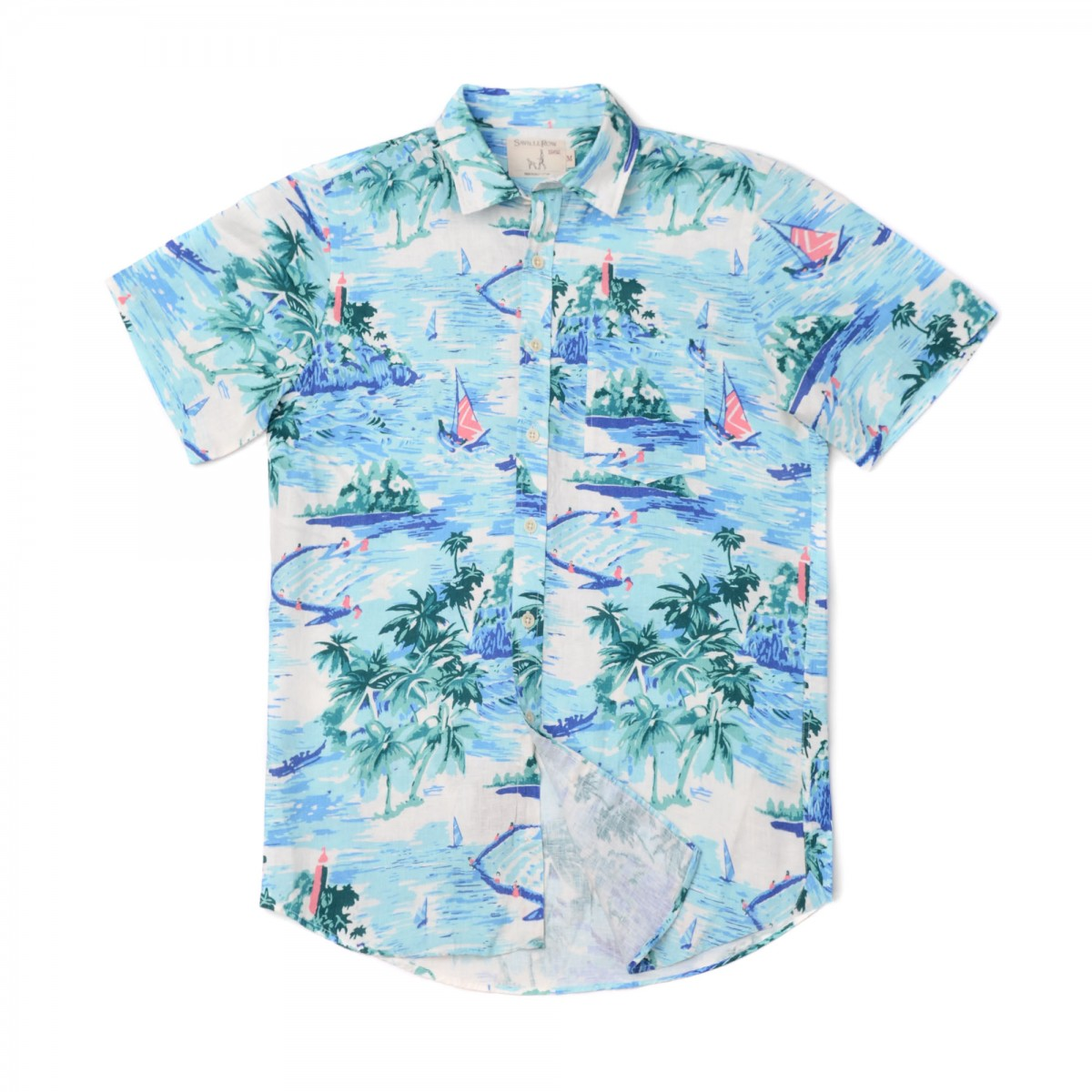 Camisa Sport Houston Weekend Lino Estampado Summer Landscape