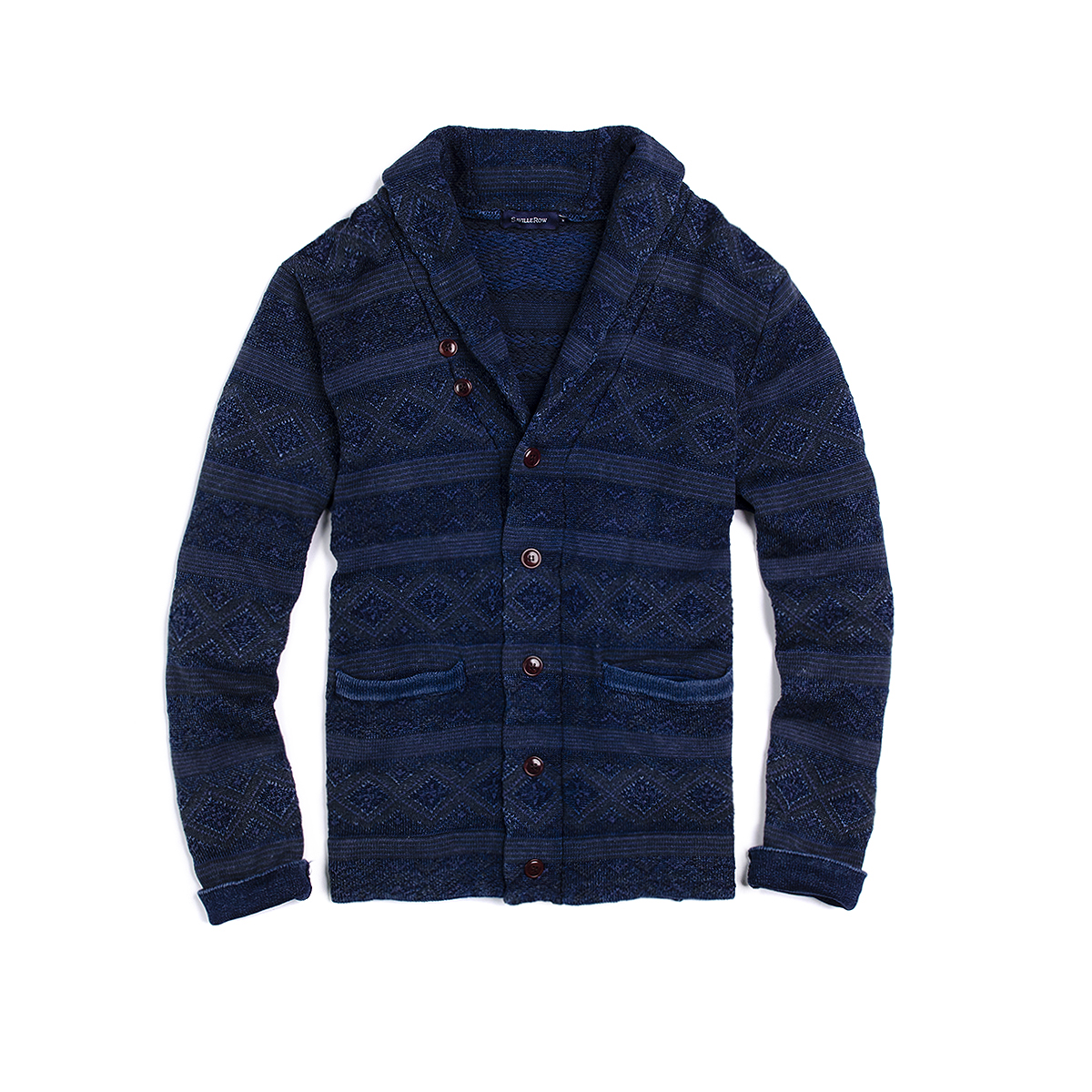 Sweater Shawl Collar Indigo