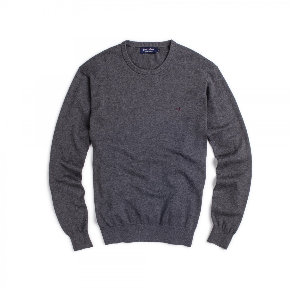 Sweater Clasico Cuello Crew Manga Larga Supima