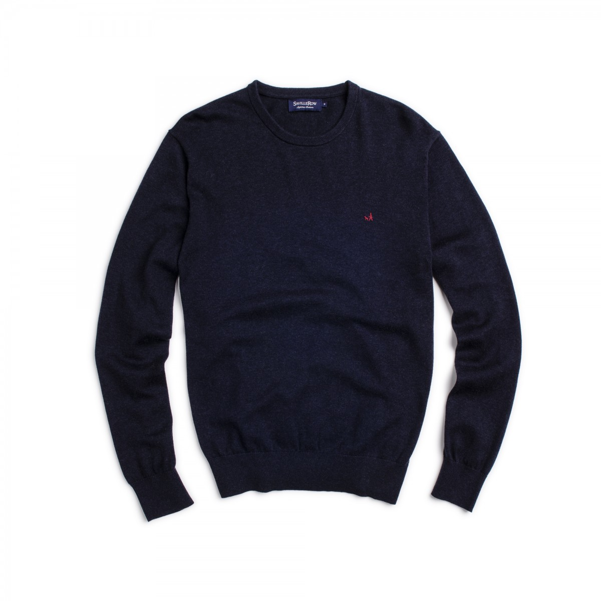 Sweater Clasico Cuello Crew Manga Larga