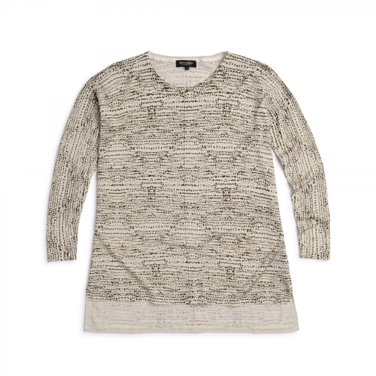 Sweater Square Fit Estampado Safari Tencel Nylon