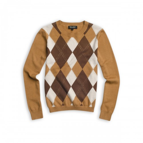Sweater Cuello Redondo Rombos