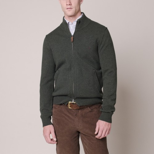 Sweater Lambswool Italiano Full Zipper