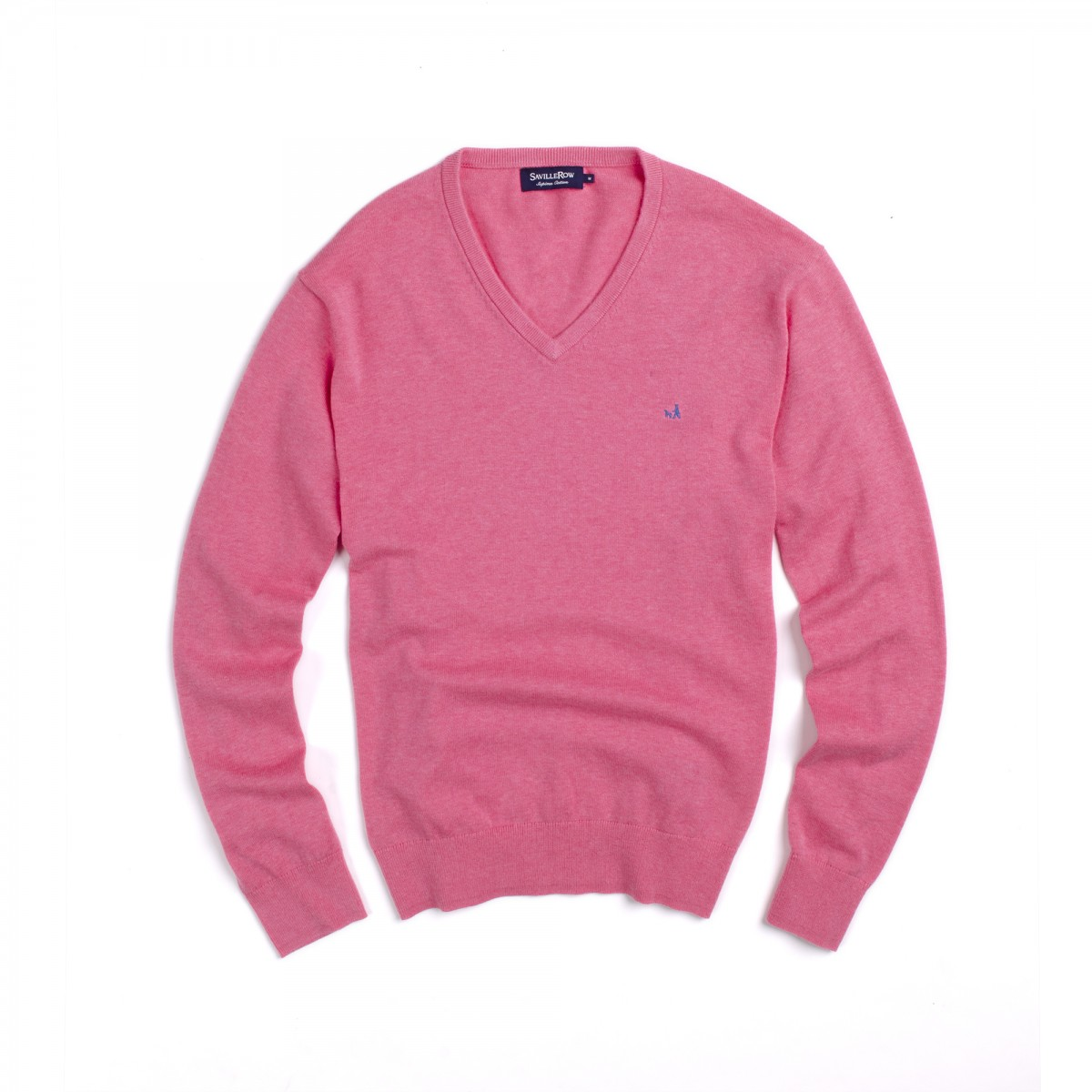 Sweater Clasico Manga Larga Cuello V Supima