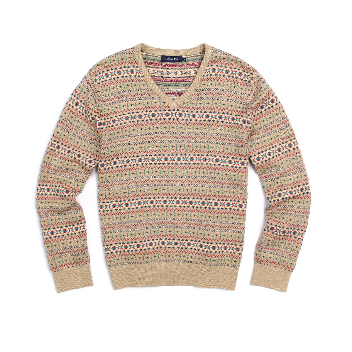 Sweater Cuello V Fair Isle
