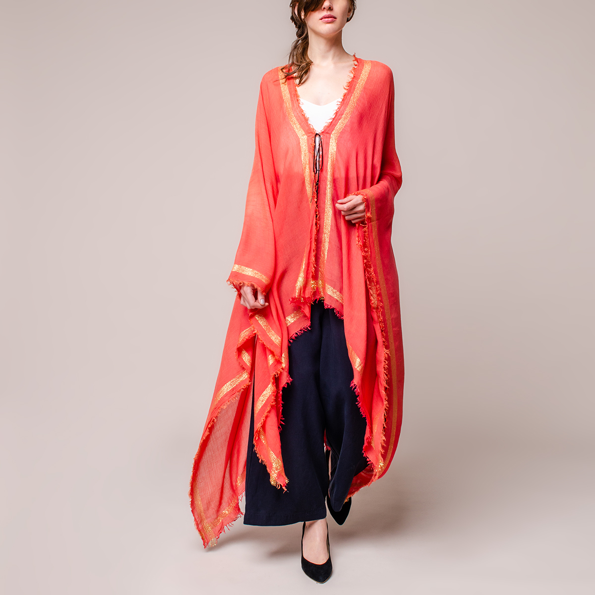 Poncho Playa Degradé con Lurex