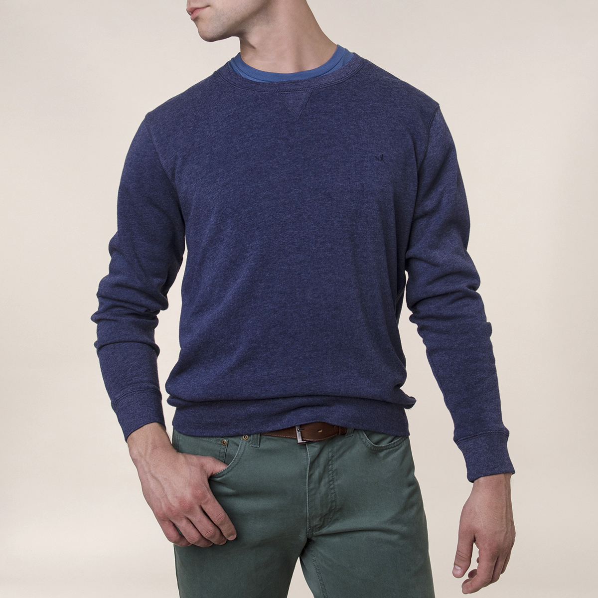 Poleron Liso Fleece Crew Light Weight