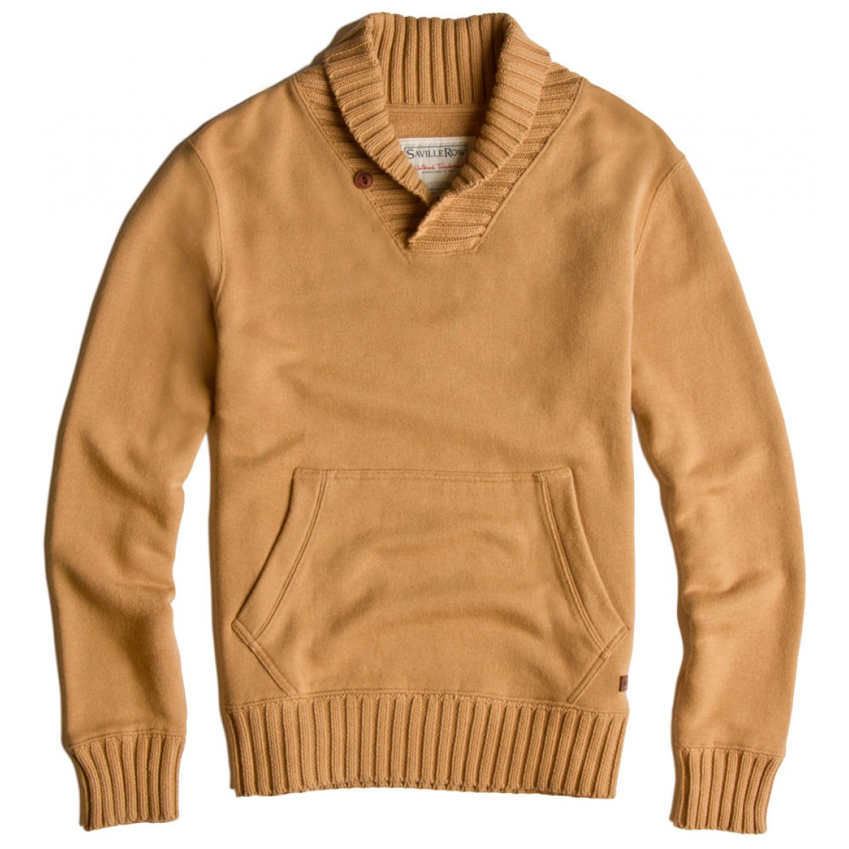 poleron liso ml shawl collar sweater knit