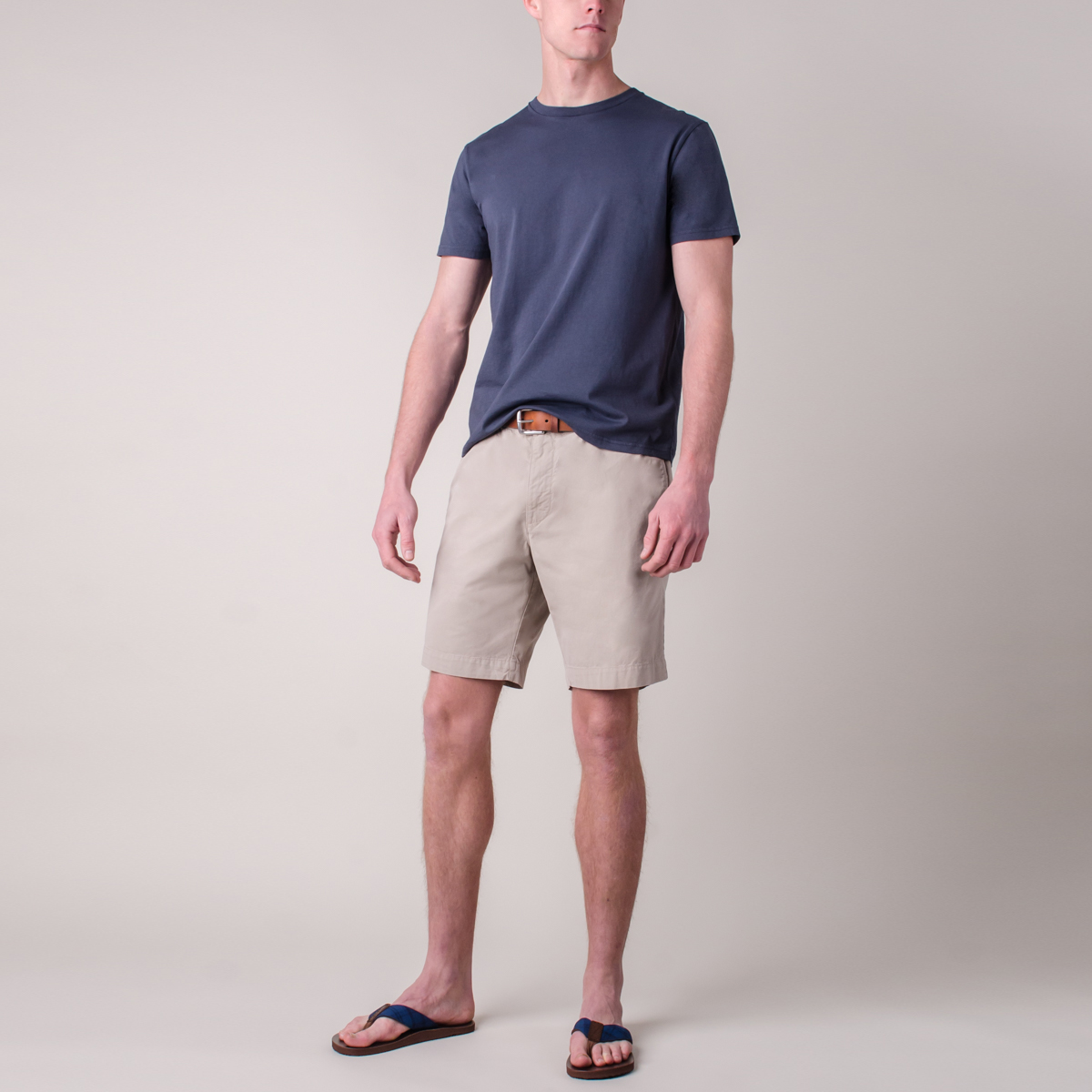 Short Classic Flat Front Air Twill