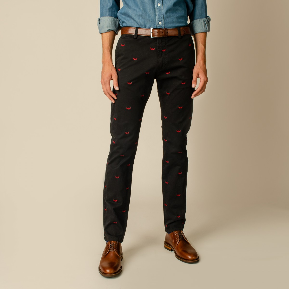Pantalon Slim Woodbridge Bordados