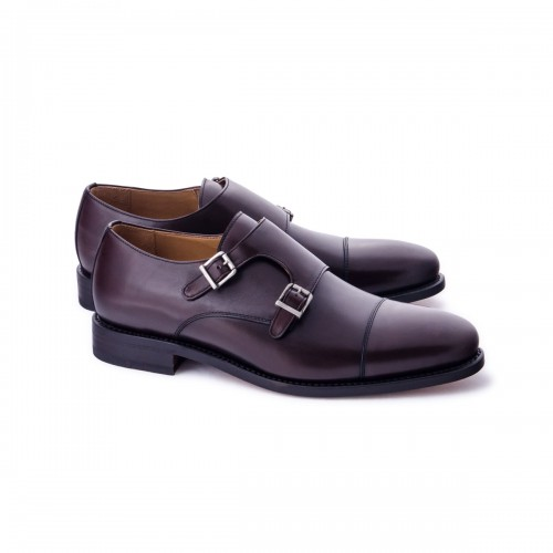 Zapato Vestir Good Year Welt Mocasin Dos Hebillas