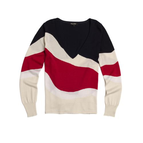 Sweater Escote V Estampado